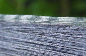 アバカ糸の絣で染めわけた部分拡大