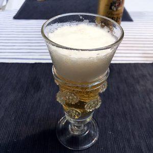 ガラス作家舩木倭帆のビアグラスとエビスビール