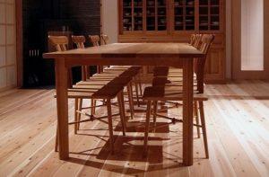 オーダー家具|ホワイトオークで作ったテーブルと椅子