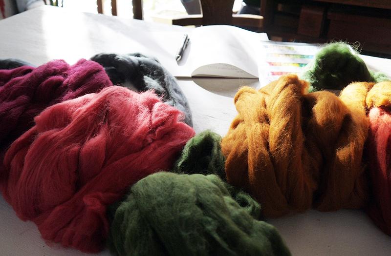 フェルト講座用の羊毛ウール